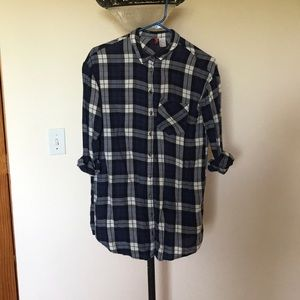 H&M BLUE FLANNEL